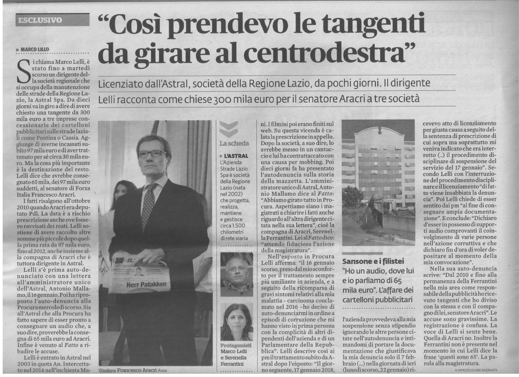 Fatto Quotidiano Aracri