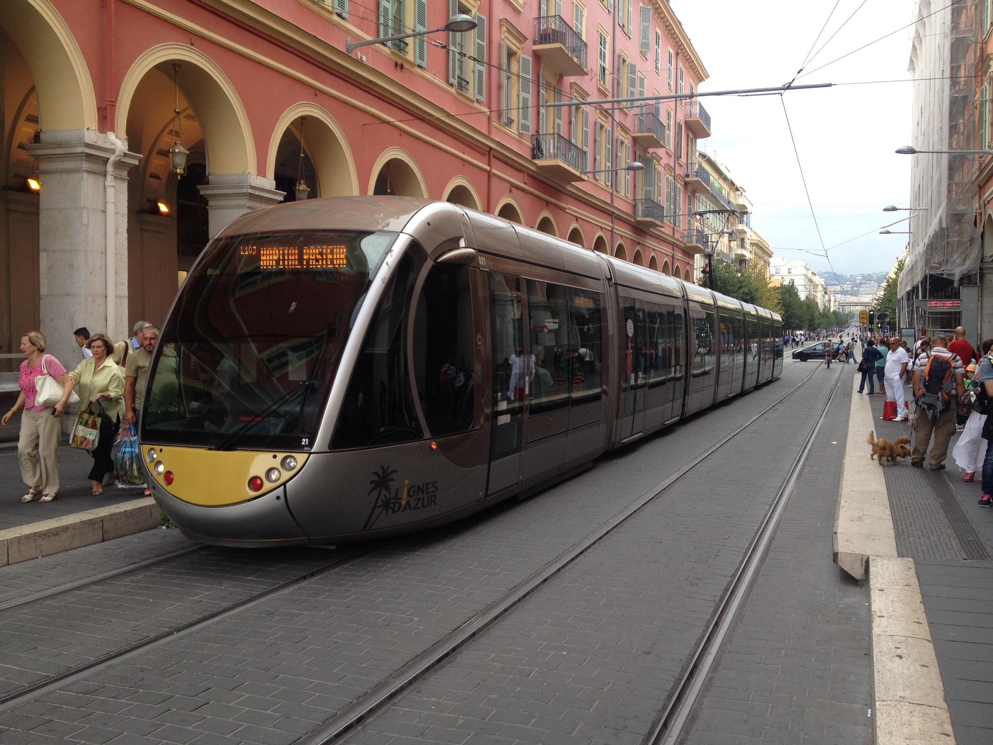 Tram nord sud Nizza
