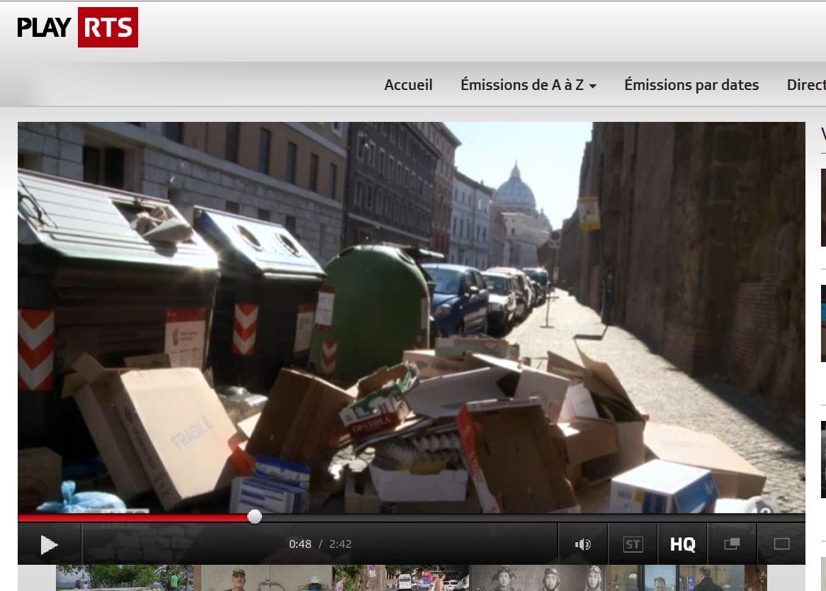 Servizio tv svizzera degrado roma