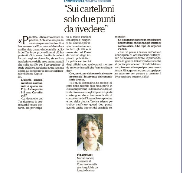 intervista Leonori
