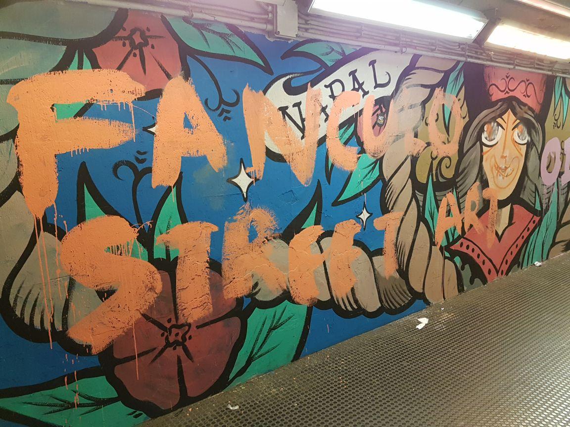 Graffiti staz nomentana