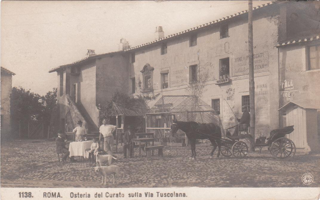 antica-osteria-del-curato-in-via-tuscolana-oggi-zona-anagnina-agro-romano-cartolina-coll-privata-stefano-vannozzi