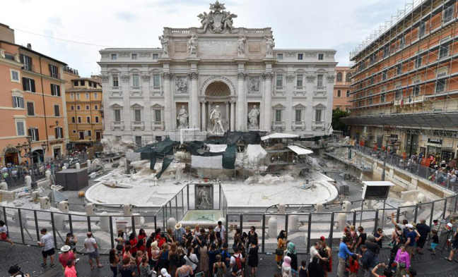 restauro fontana trevi