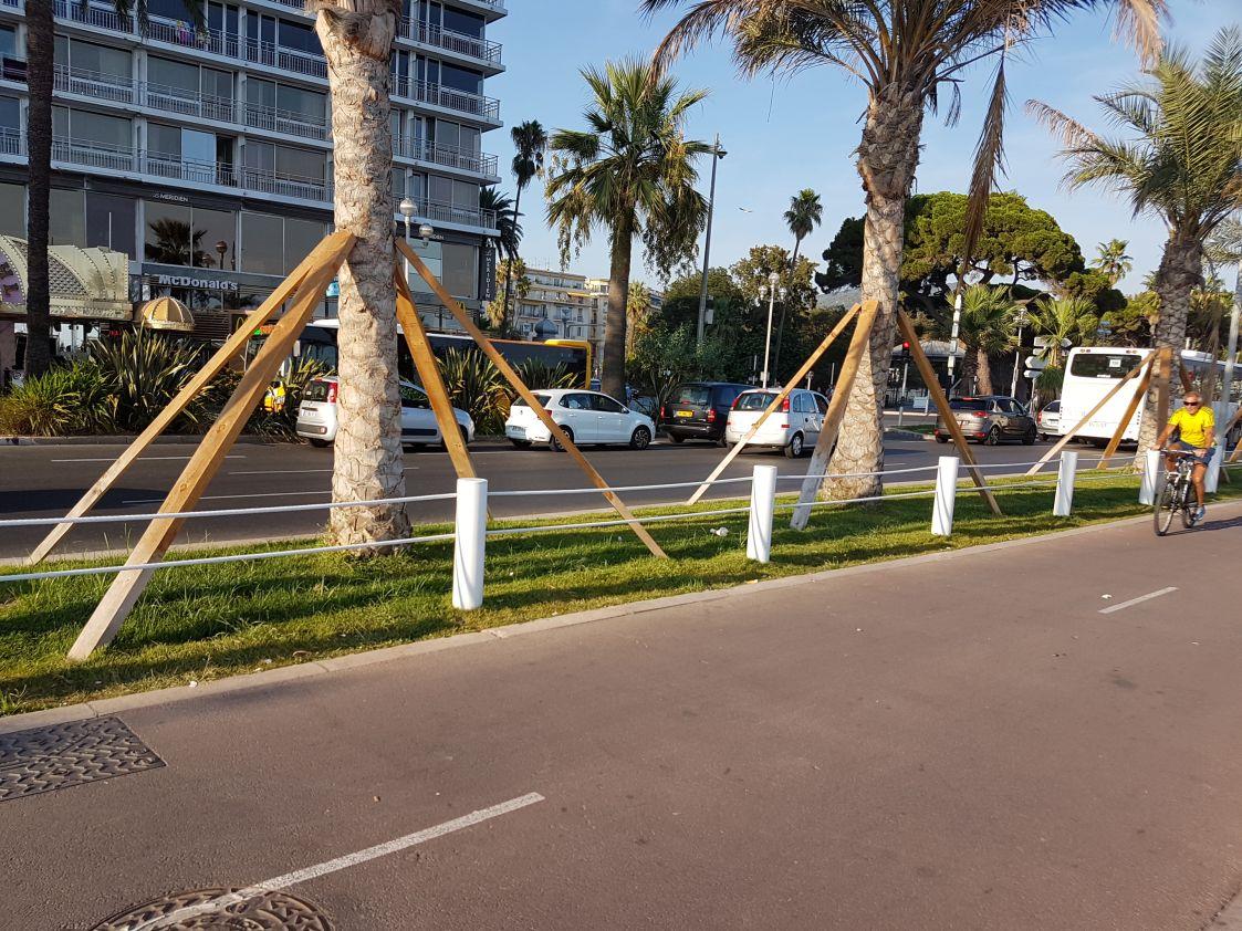 Barriere anti terrorismo Nizza