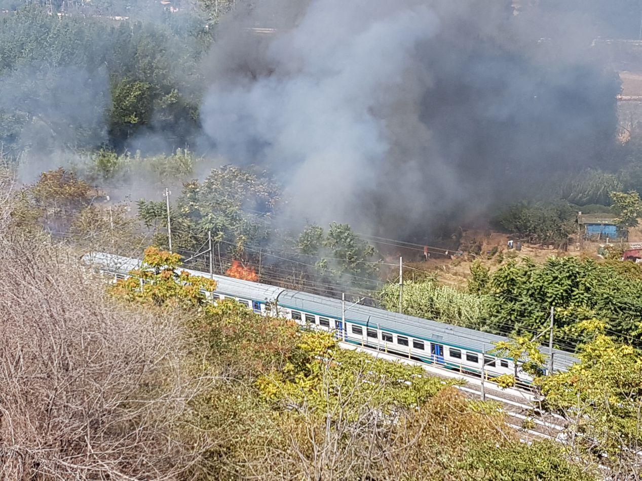 Incendio ponte valli