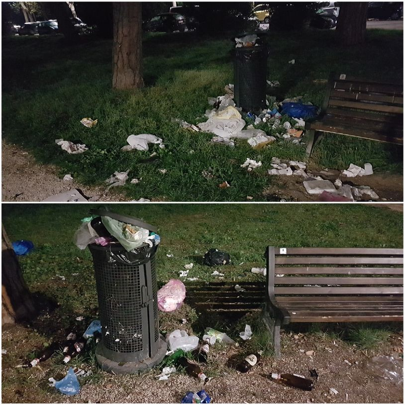 rifiuti parco nomentano